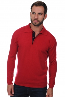 Cashmere  men polo style sweaters scott
