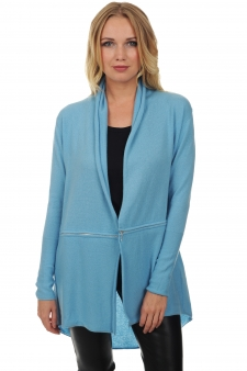 Cashmere  ladies cardigans bluette