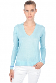 Cashmere & Silk  ladies v necks arleen