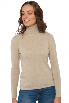 ladies roll neck premium organic jade