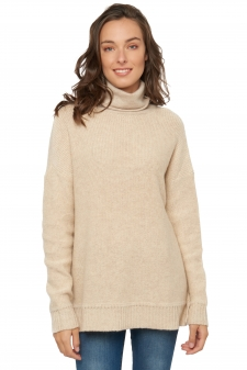 Cashmere & Camel  ladies roll neck gribelle
