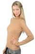 Cashmere ladies roll neck jade camel m