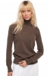 Cashmere ladies roll neck lili marron chine xs