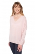Cashmere ladies v necks boston shinking violet s