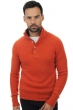 Cashmere men polo style sweaters lewis paprika capuccino l