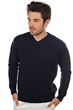 Cashmere men v necks atman dress blue l