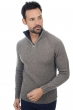 cashmere  yak men polo style sweaters howard natural grey charcoal marl xxl