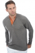 cashmere men polo style sweaters abiel dove chine orange l