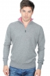 cashmere men polo style sweaters henri grey marl bubble gum xxl