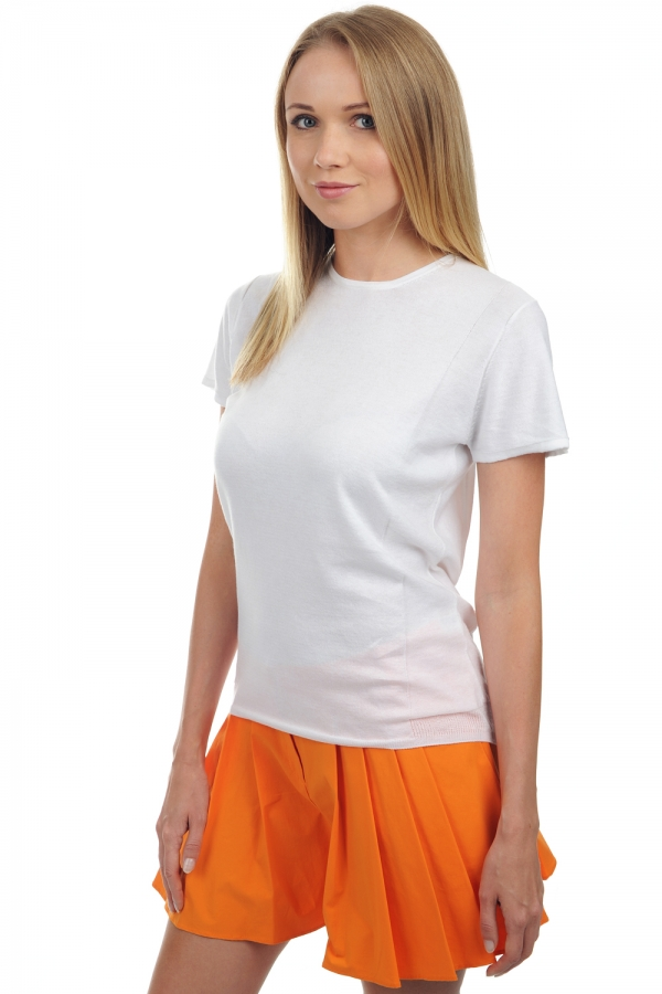 ladies cotton giza 45 brenda white xs