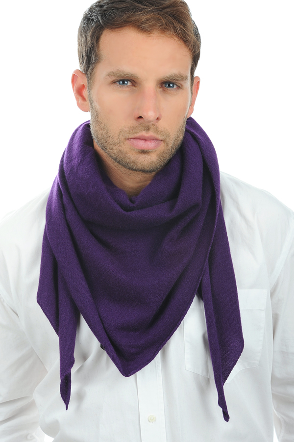 Cashmere accessories scarves  mufflers argan bright violette one size
