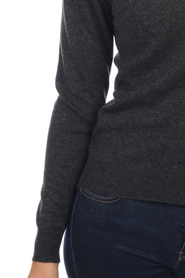 Cashmere ladies basic sweaters at low prices taline charcoal marl xl