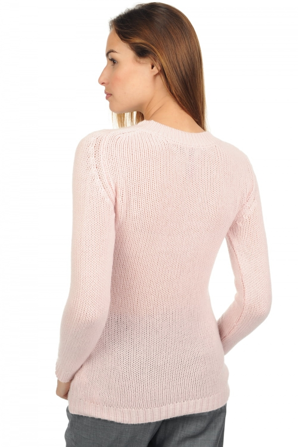 Cashmere ladies chunky sweater marielle shinking violet xl