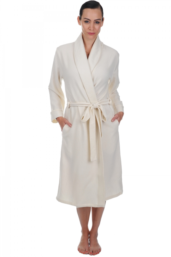 Cashmere ladies dressing gown mylady ecru s4