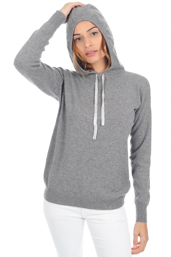 Cashmere ladies round necks sigma grey marl s1