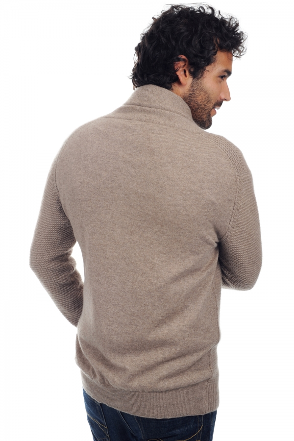 Cashmere men chunky sweater maxwell natural brown l