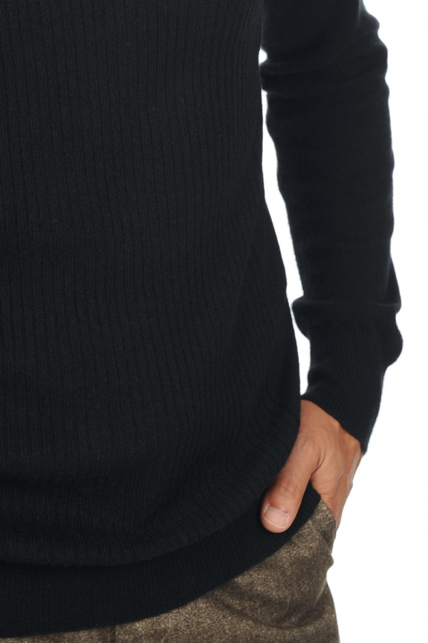Cashmere men polo necks zinedine black m