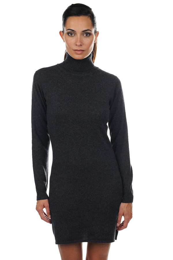 cashmere ladies dresses  coats abie charcoal marl m