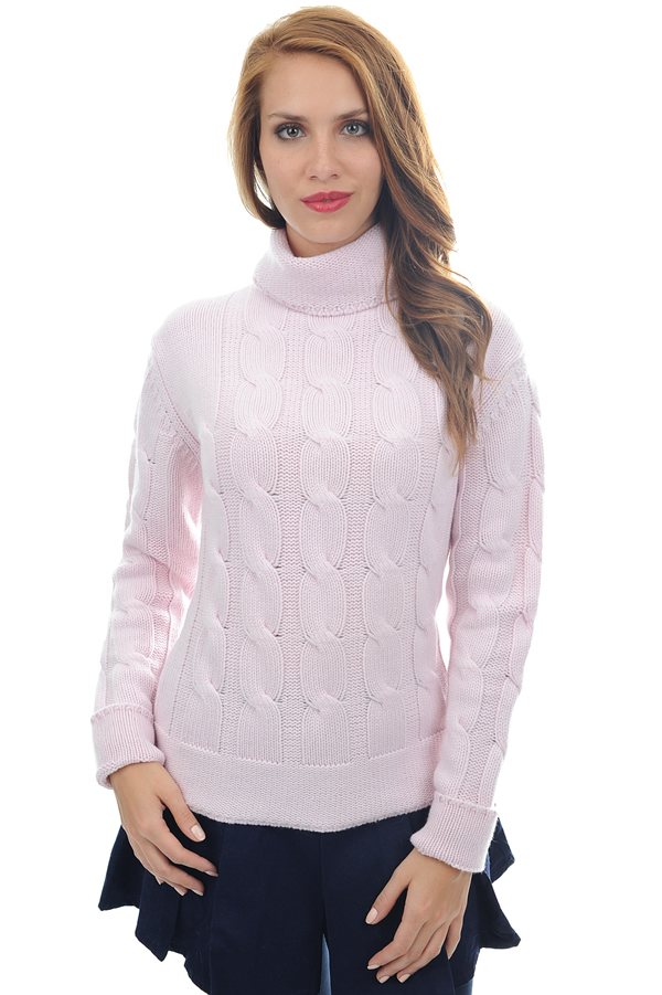 cashmere ladies polo necks blanche shinking violet m