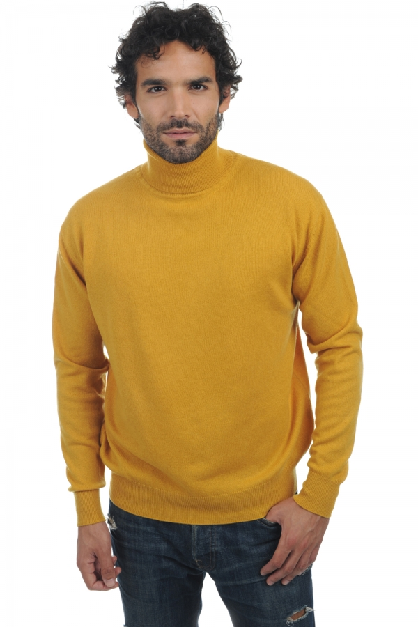 cashmere men polo necks edgar mustard m