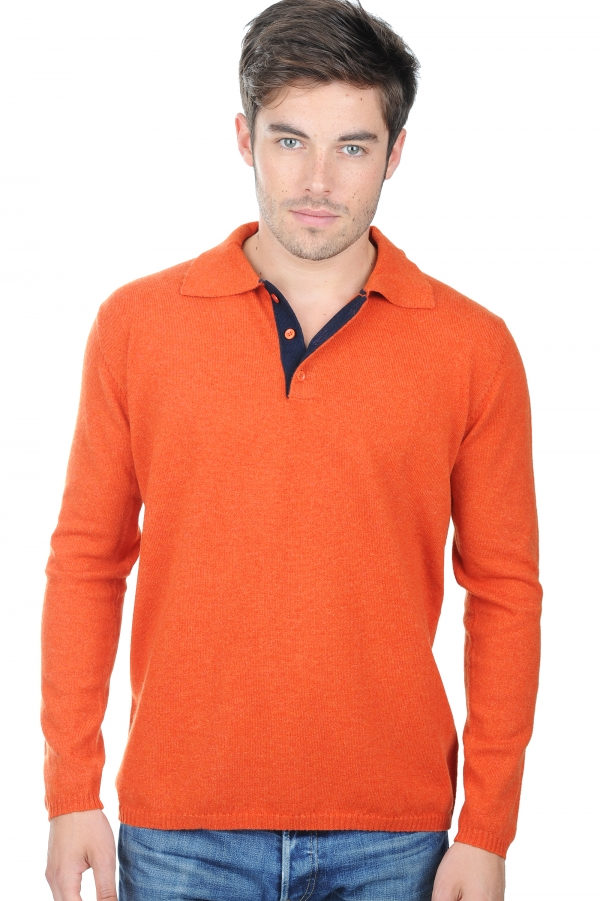 cashmere men polo style sweaters scott paprika dress blues m