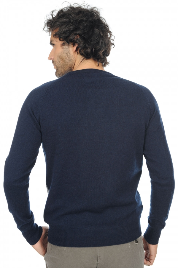 cashmere men round necks isaac dress blue l
