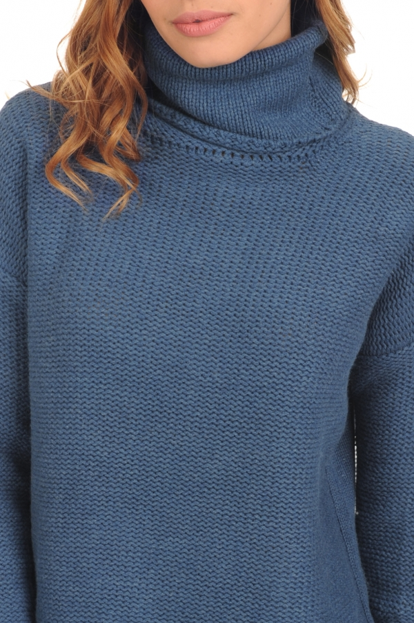yak ladies polo necks ygritte stellar blue s4