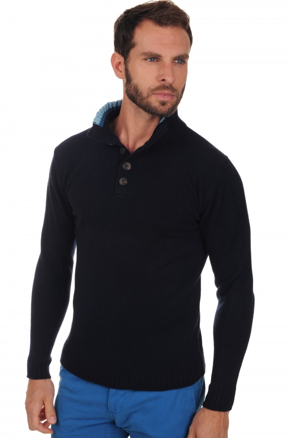 yak men polo style sweaters harpo midnight blue m