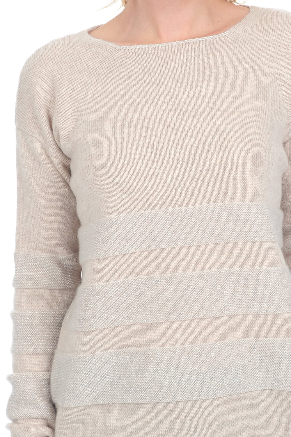 Cashmere ladies chunky sweater marylou vintage beige chine xl