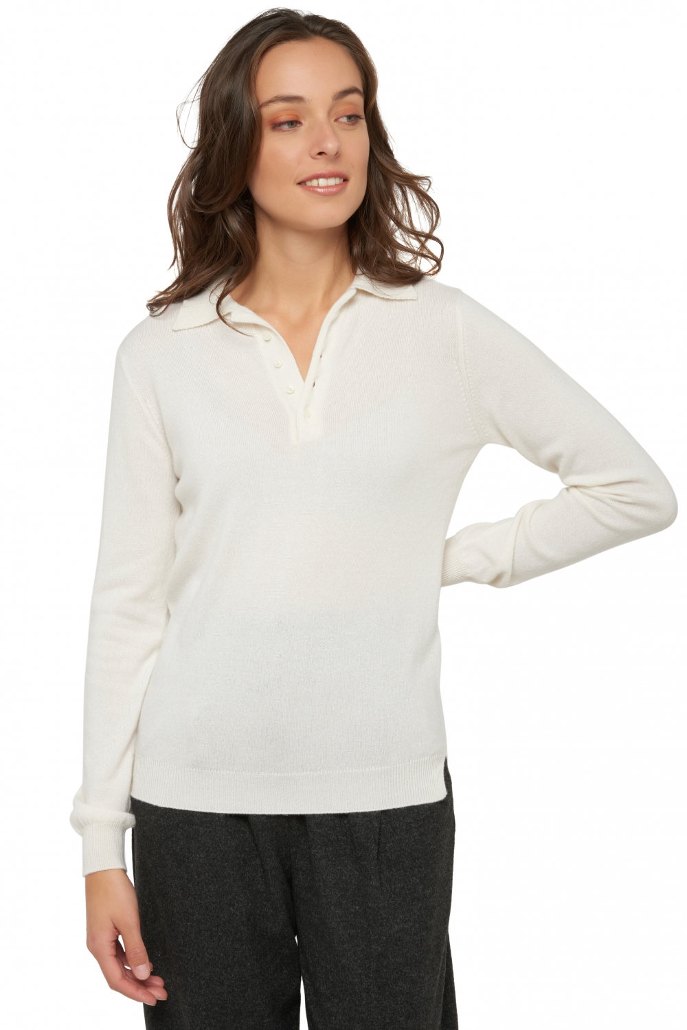 Cashmere ladies exclusive ilyana ecru l