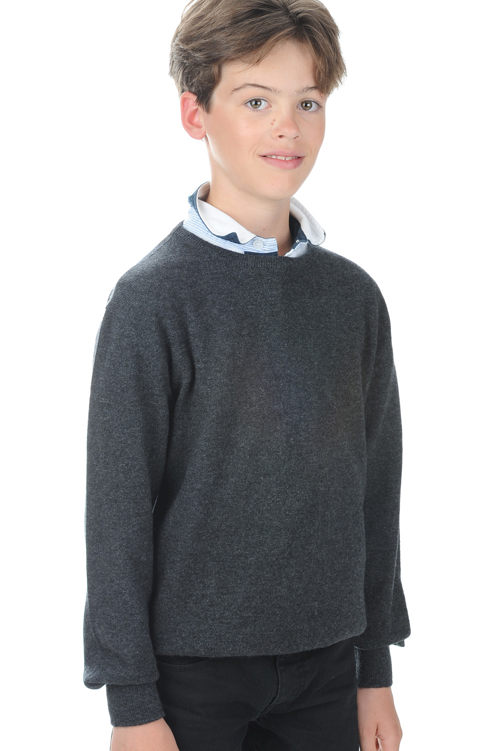Cashmere men boys nestor boy charcoal marl 2