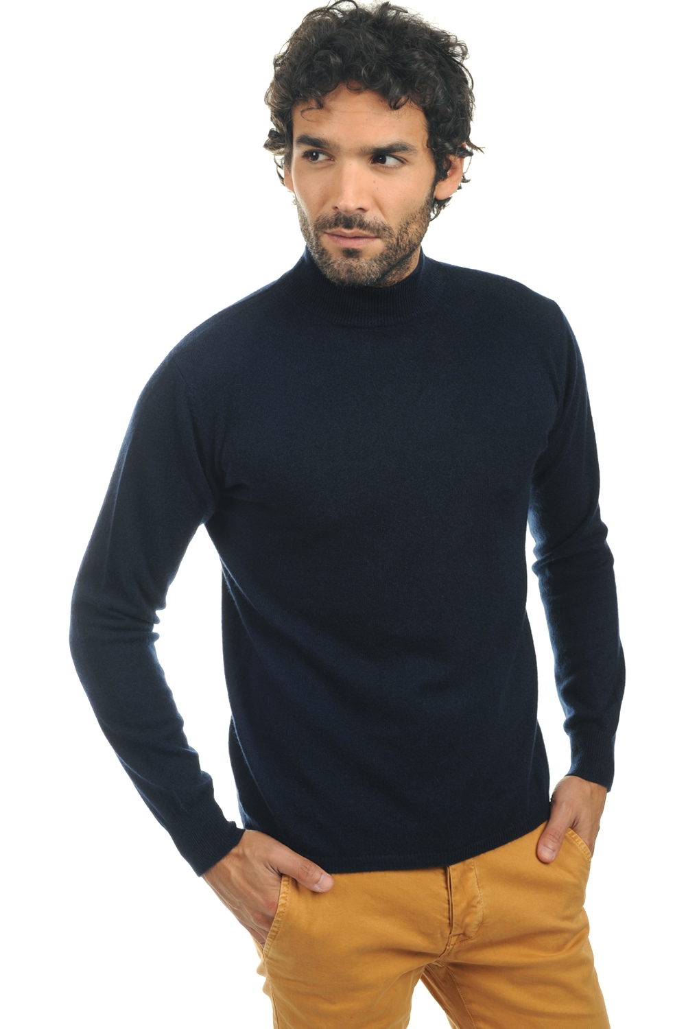 Cashmere men polo necks frederic dress blue xl