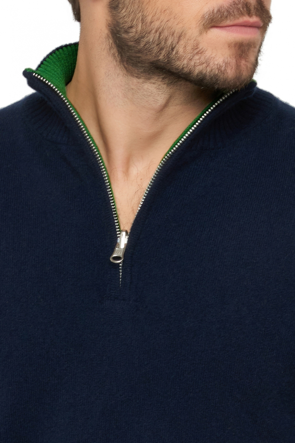 Cashmere men polo style sweaters cilio dress blue   basil l