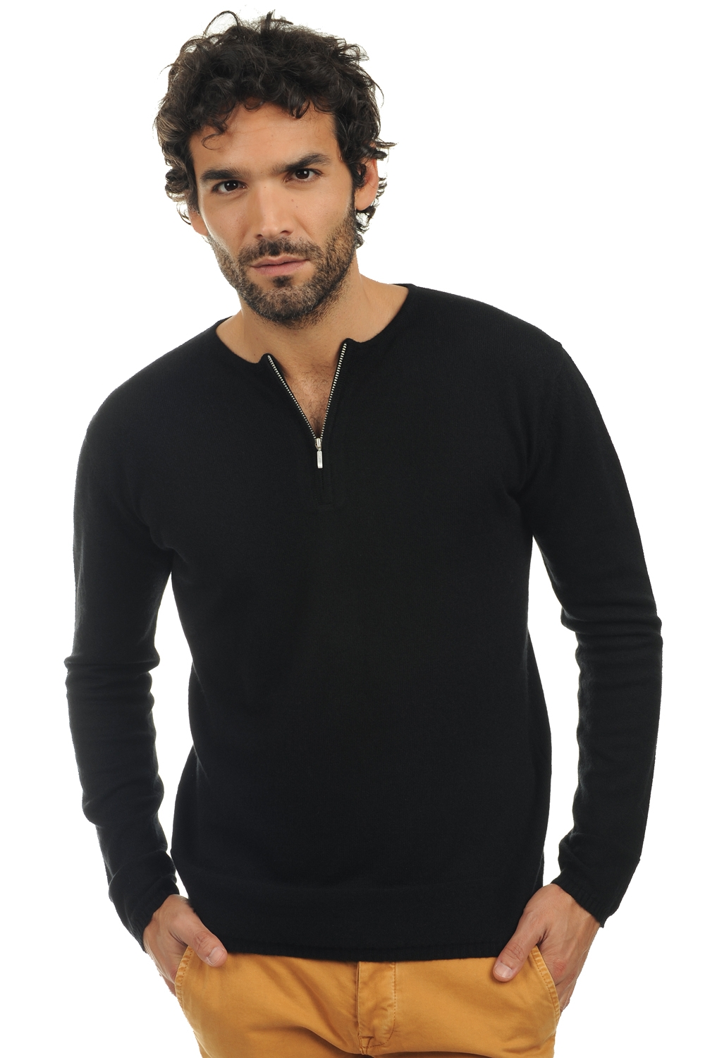 Cashmere men round necks xander black l