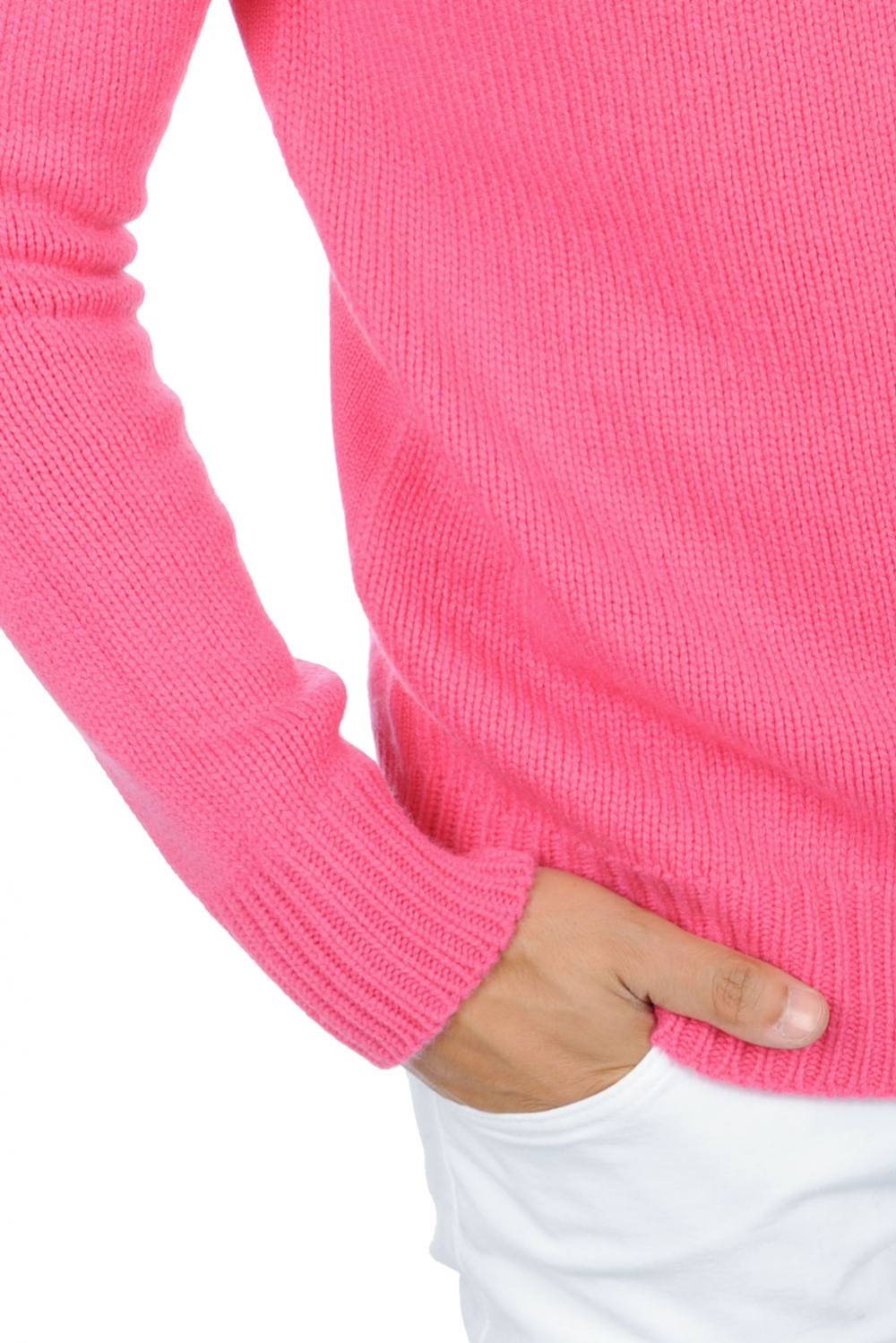 cashmere men polo necks mamadou shocking pink xxl