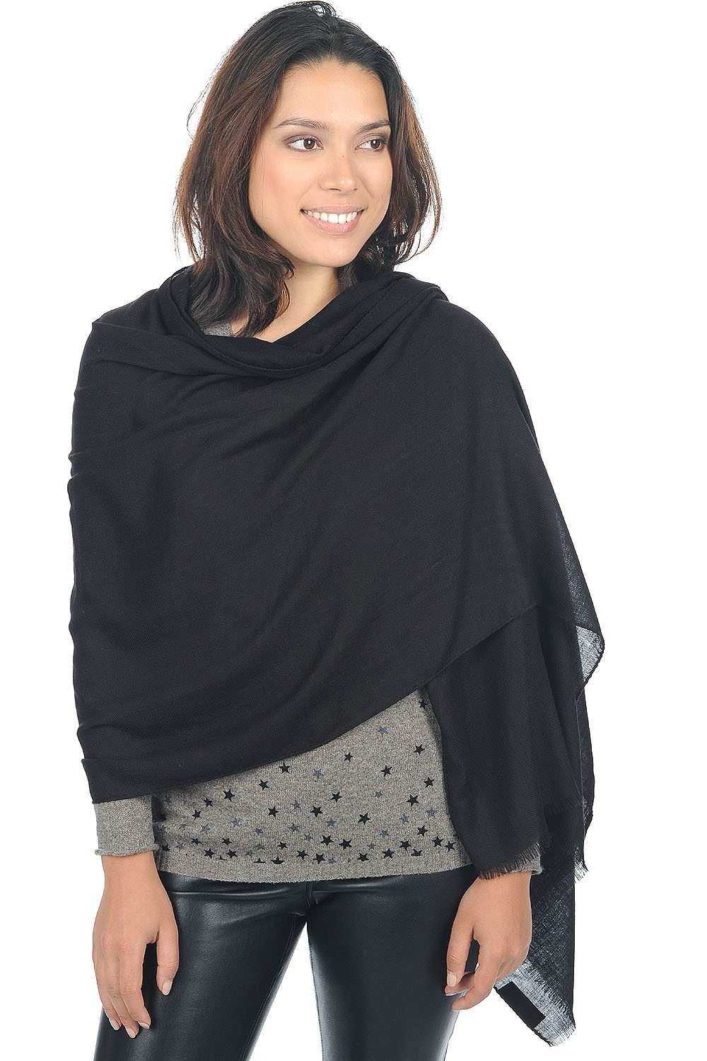 vicuna accessories shawls vicunadiams black 200x70cm