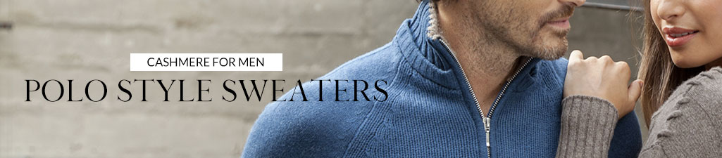 Cashmere for menPolo style sweaters