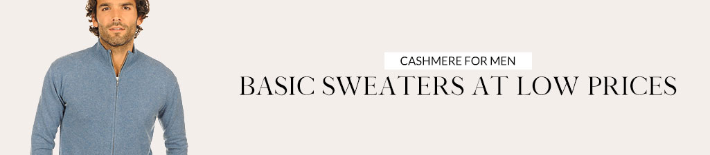 Cashmere for menBasic sweaters at low prices
