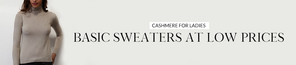 Cashmere for ladiesBasic sweaters at low prices